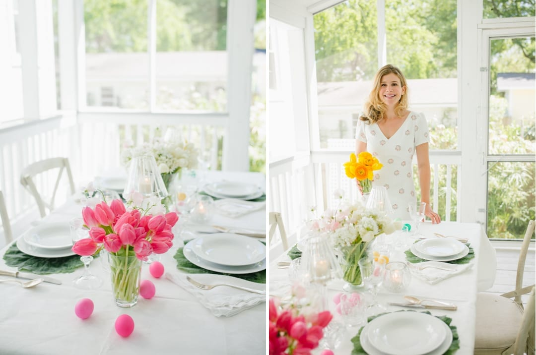 setting the table for easter