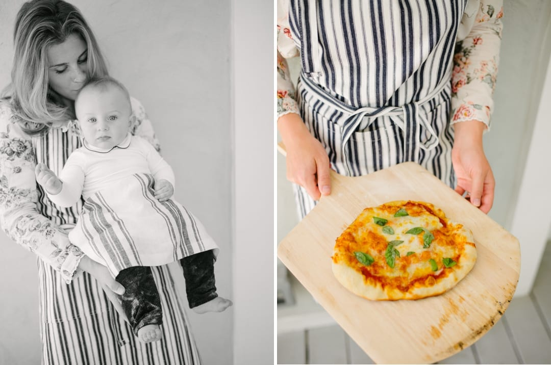 Lucy Cuneo With Baby Pizza Party