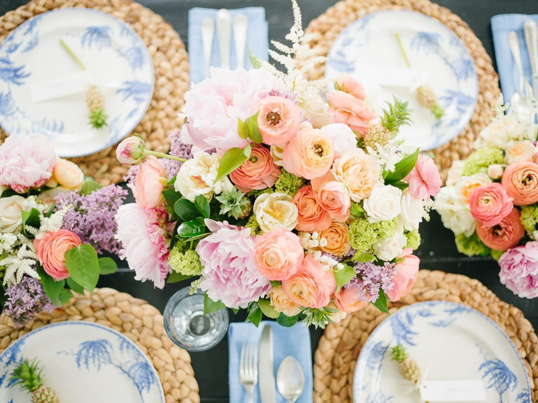 Floral centerpiece with Lucy Cuneo and Anne Bowen