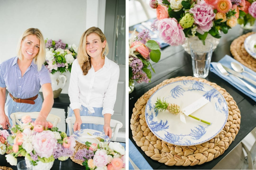 Lucy Cuneo & Anne Bowen Arranging Flowers