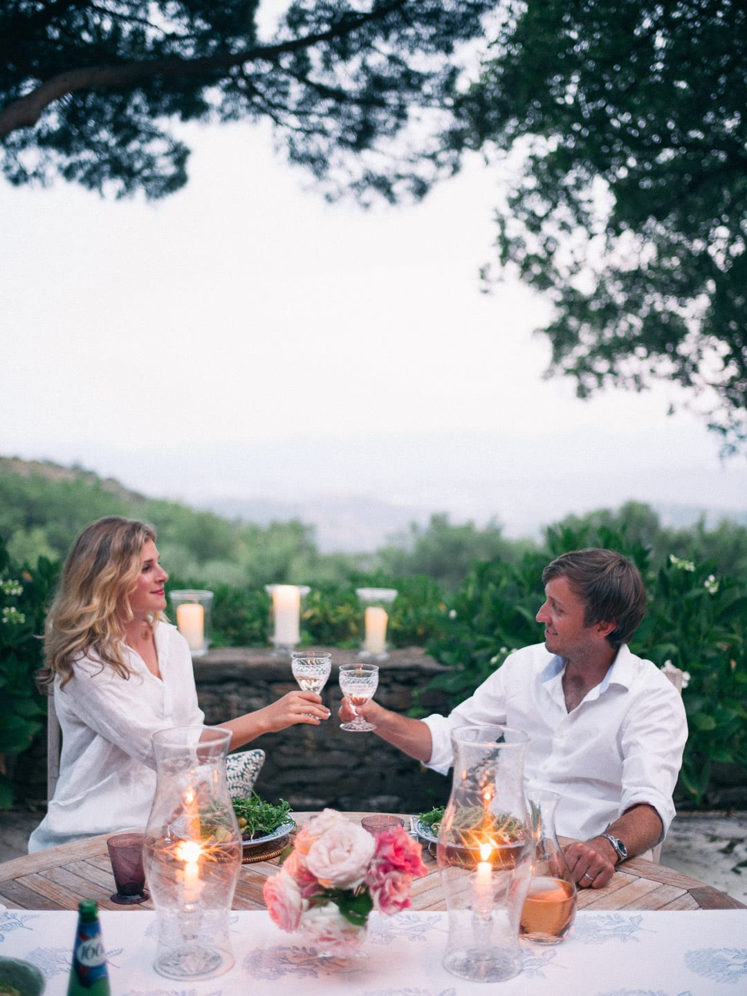 Romantic dinner for two in France
