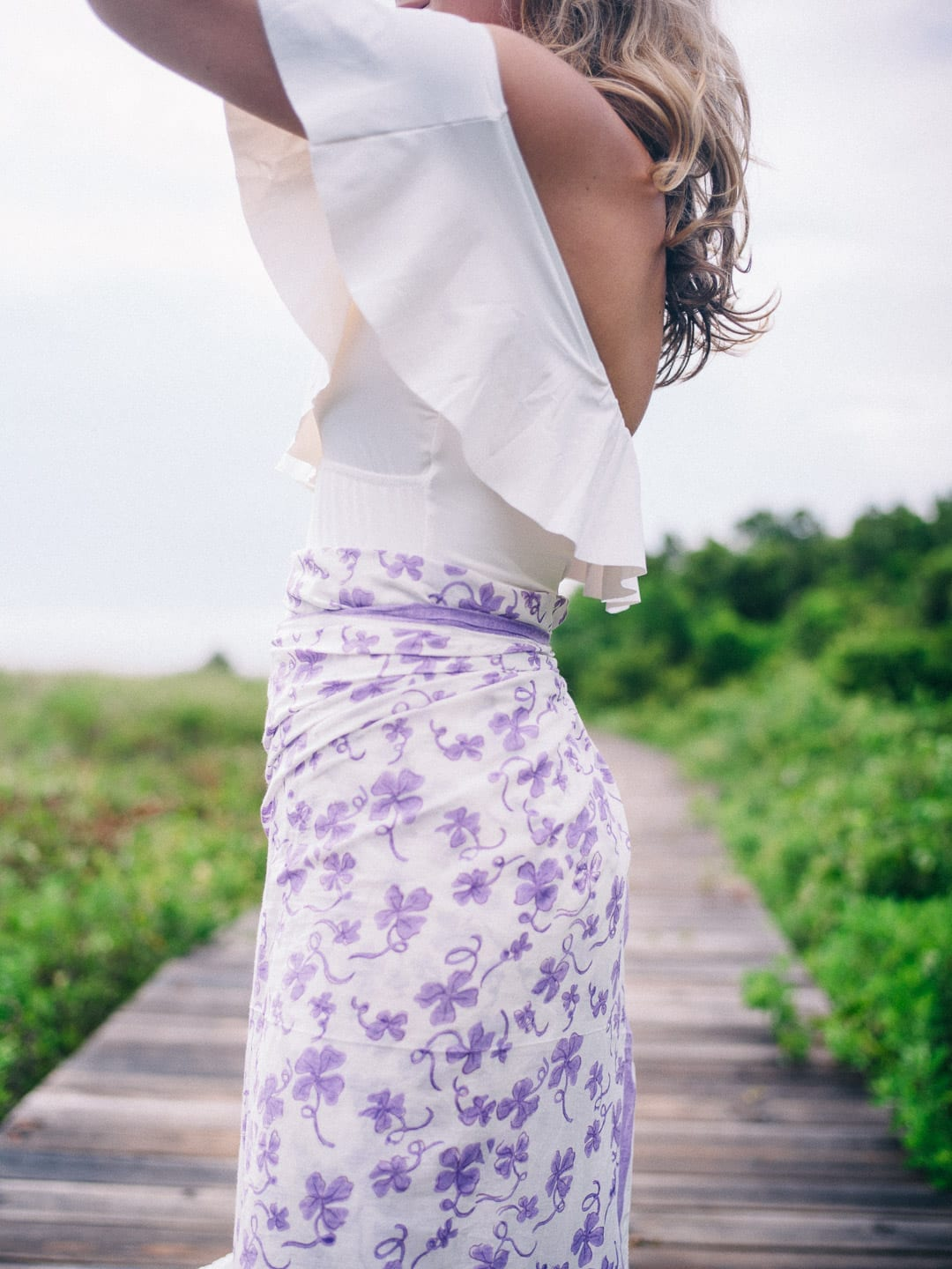 India Amory Sarong worn by Lucy Cuneo