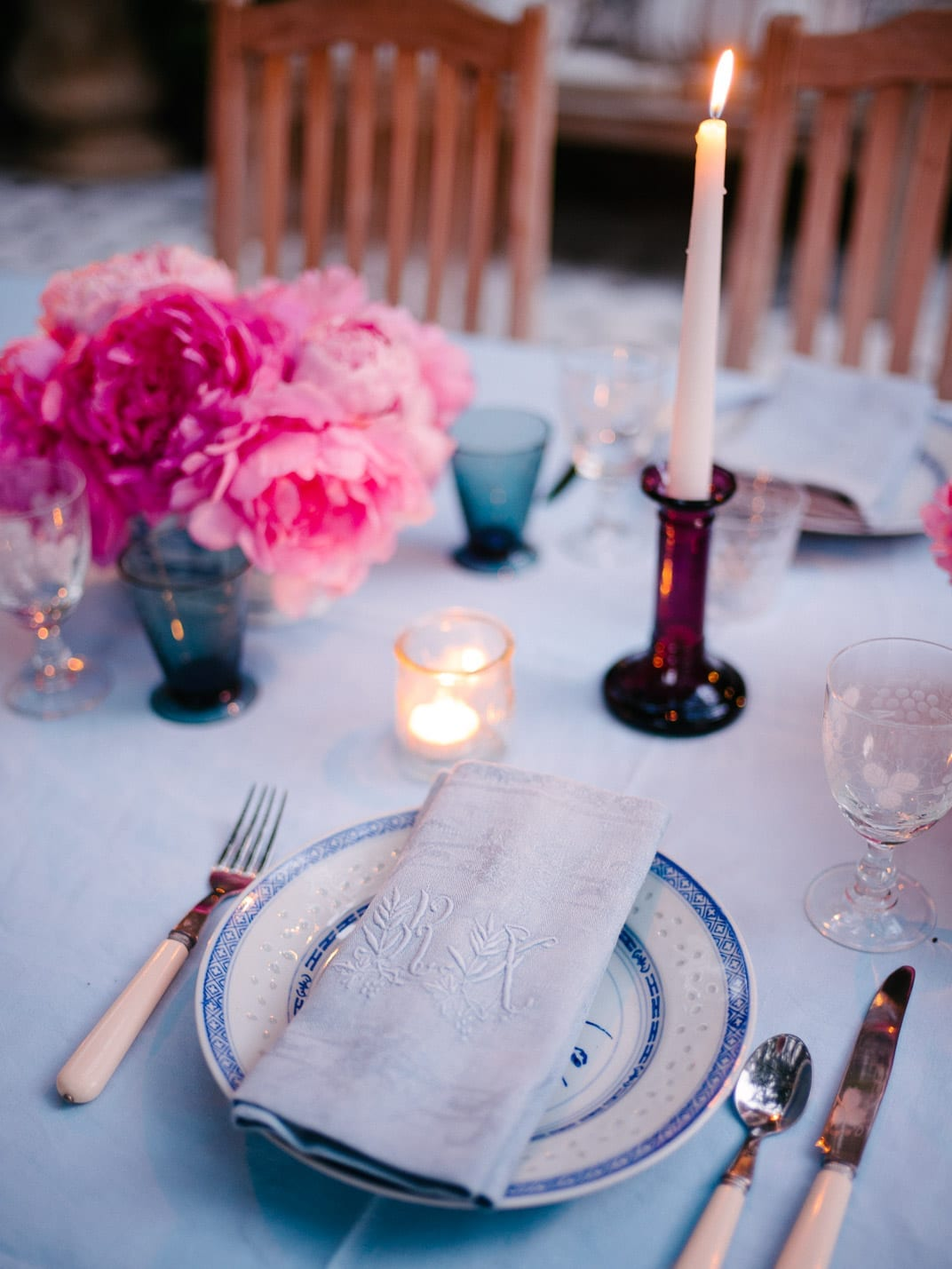 Setting the table from Start to Finish - Lucy Cuneo - Candles!