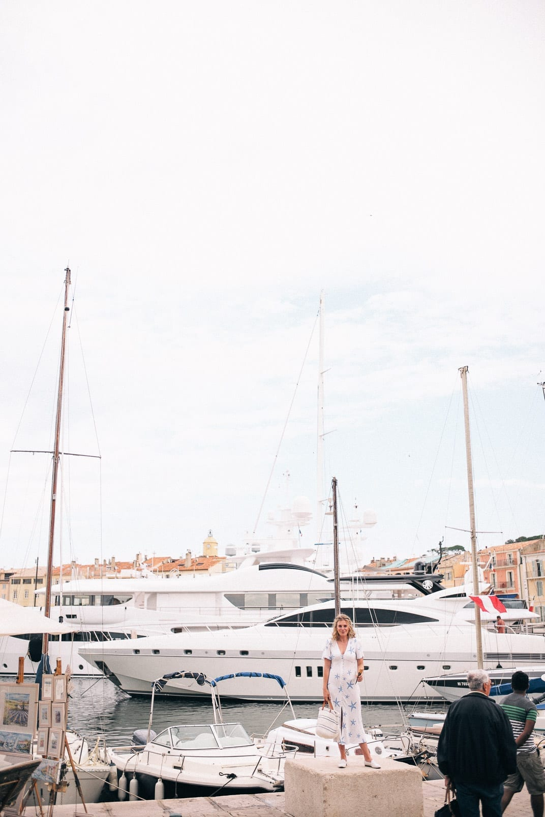 Lucy Cuneo: St Tropez guide - small harbor with big boats